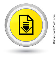Download document icon prime yellow round button