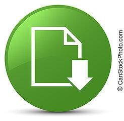 Download document icon soft green round button