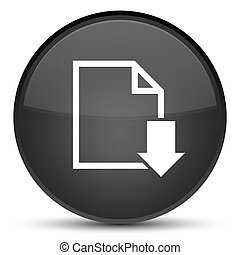 Download document icon special black round button