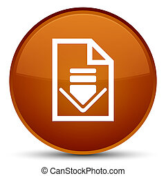 Download document icon special brown round button