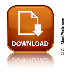Download (document icon) special brown square button