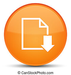 Download document icon special orange round button