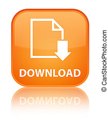 Download (document icon) special orange square button