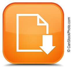 Download document icon special orange square button