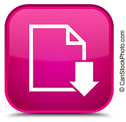 Download document icon special pink square button