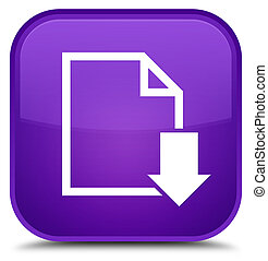 Download document icon special purple square button