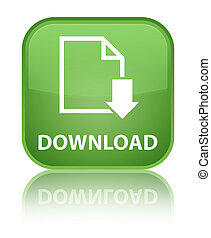 Download (document icon) special soft green square button