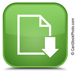 Download document icon special soft green square button