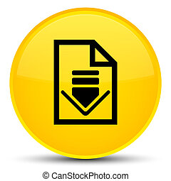 Download document icon special yellow round button