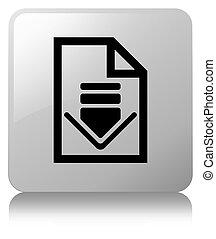 Download document icon white square button