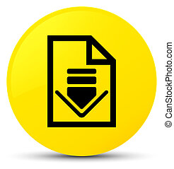 Download document icon yellow round button