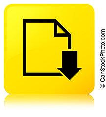 Download document icon yellow square button
