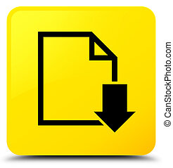 Download document icon yellow square button