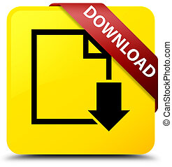 Download (document icon) yellow square button red ribbon in corner