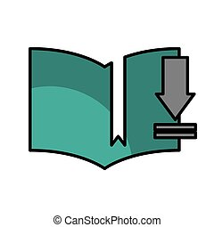 download electronic book icon vector illustration design