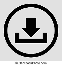 Download flat black color rounded vector icon