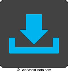 Download flat blue and gray colors rounded button