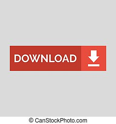Download flat button on grey background.