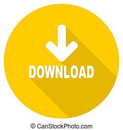 download flat design yellow web icon