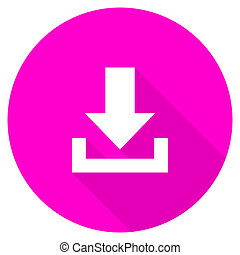 download flat pink icon
