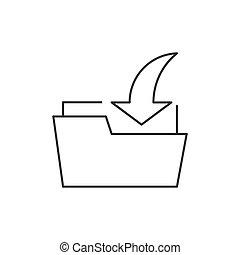 Download folder outline icon