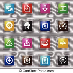 Download glass icons set