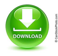 Download glassy green round button