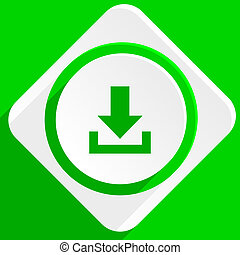 download green flat icon