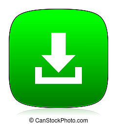 download green icon for web and mobile app