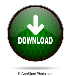 download green internet icon