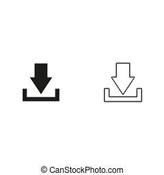 Download - green vector icon