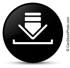 Download icon black round button