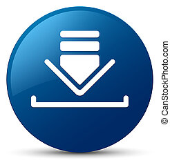 Download icon blue round button