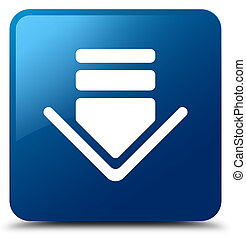 Download icon blue square button