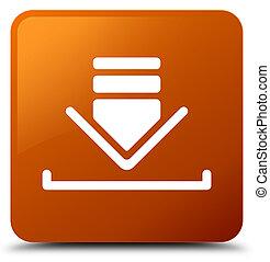 Download icon brown square button