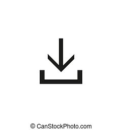 Download icon, design inspiration vector template for interface and any purpose
