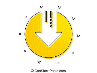 Download icon. Down arrow sign. Vector