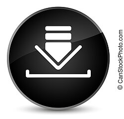 Download icon elegant black round button