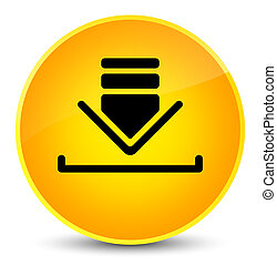 Download icon elegant yellow round button