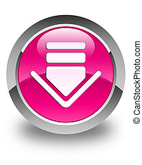 Download icon glossy pink round button