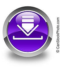 Download icon glossy purple round button