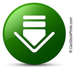 Download icon green round button