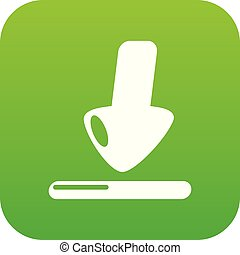 Download icon green vector