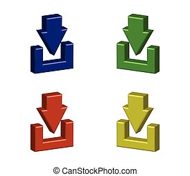 download icon illustrated in vector on white background