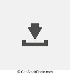 Download Icon in black color. Vector illustration eps10