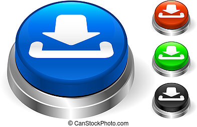 download icon on internet button Original Vector...