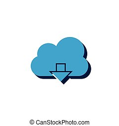 Download icon on white background