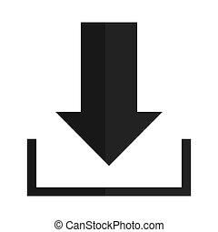 Download icon on white background - simple grey downloading ...