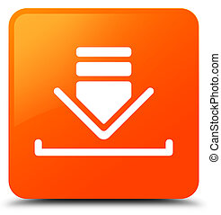 Download icon orange square button