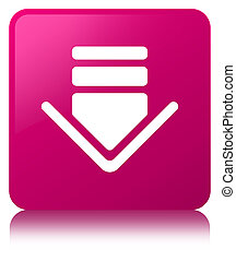 Download icon pink square button